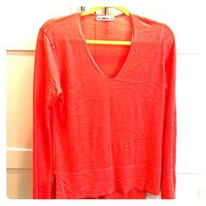 Bright sherbet orange/pink Zara sweater